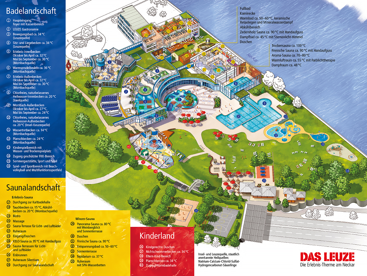 Lageplan Badelandschaft