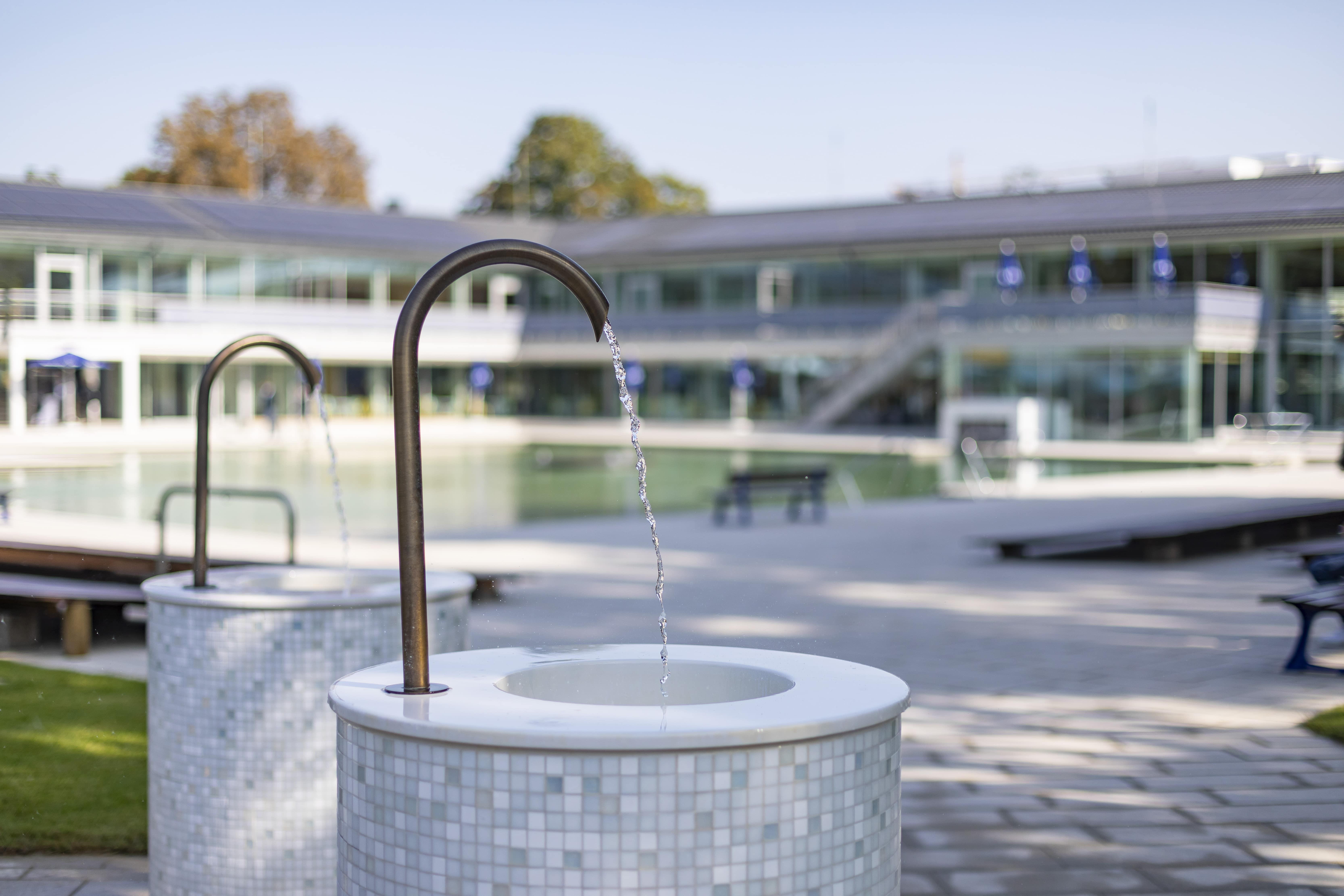 Trinkbrunnen im Außenbereich